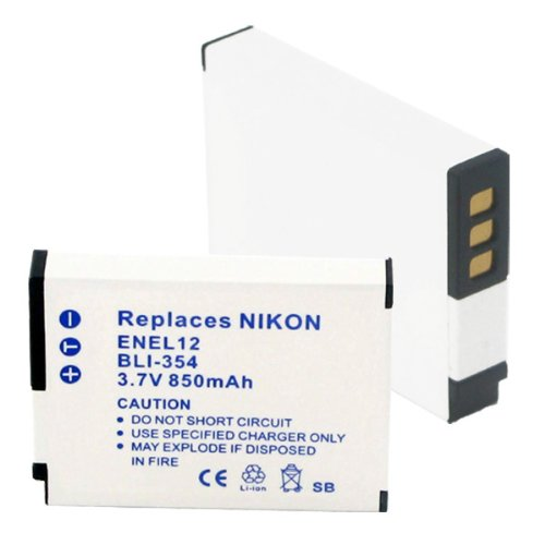850mA, 3.7V Replacement Li-Ion Battery for Nikon COOLPIX AW100S Video Cameras - Empire Scientific #BLI-354