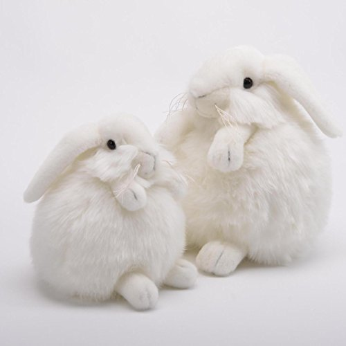 "White Bunny Rabbit Baby Plumpee Plush Toy 7"" H"