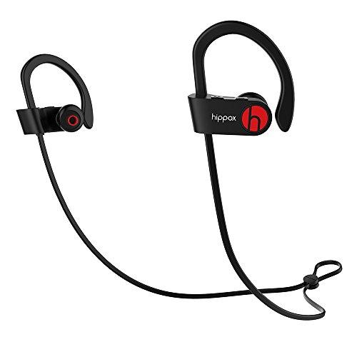HIPPOX-Cuffie-Bluetooth-Resistente-al-sudore-IPX4-Wireless-Auricolari-Sportivi-con-Microfono-a-prova-di-rumore-per-Palestra-Corsa-e-Trekking-Compatibile-iPhone-7-Samsung-dispositivi-Android