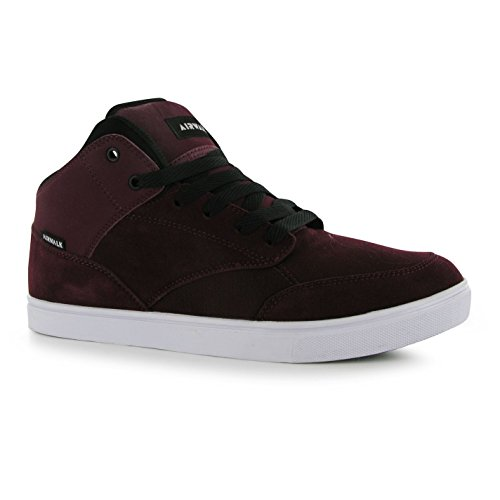 Airwalk automatico Mid Top Skate Scarpe da uomo bordeaux Casual Scarpe Sneakers, Bordeaux