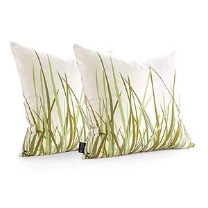 """inhabit Summer Grass : 18""""x18"""" Pillow"""