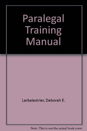 Paralegal Training Manual