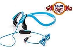 Hangout {MY SOUND} SPORTS Back Neck STEREO HEADSPHONES-HSR-54-Blue