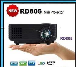 CROCON RD805 LED Projector 800 Lumens HDMI USB VGA TV Home Theater ...