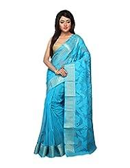 Bengal Handloom Silk Floral Saree - B00WFUXEUQ