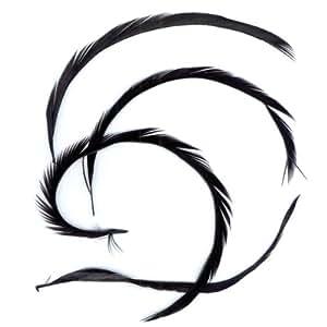 Goose Biots Feathers .15 Ounces-Black