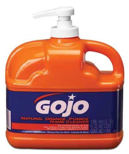 Gojo 0958-04 64-Ounce Hand Cleaner, Natural Orange