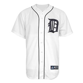 MLB Detroit Tigers Austin Jackson White Home Replica Baseball Jersey, White by Majestic