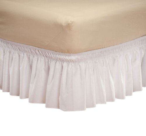 Miles Kimball Queen King White Wrap Around Bed Skirt front-260219