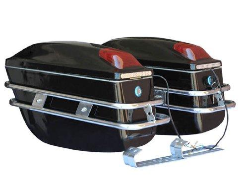 Brand New Hard Saddle Motorcycle Bag Trunk Harley Touring Softtail Style Cruiser