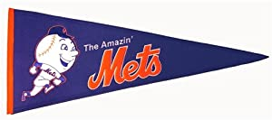 New York Mets Cooperstown Collection Wool Blend MLB Baseball Pennant by Winning+Streak+Sports