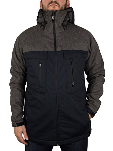 Original Penguin Uomo Imperial Hooded Sport Jacket, Grigio, Large