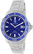 Tag Heuer Aquaracer Calibre 5 Blue Dial Stainless Steel Automatic Mens Watch WAK2111.BA0830