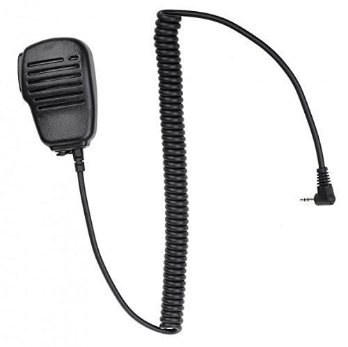 Generic 1Pin 2.5mm Black Rainproof Shoulder Remote Speaker Microphone PTT for Motorola Talk about Walkie Talkie (Remote Speaker Microphone compare prices)