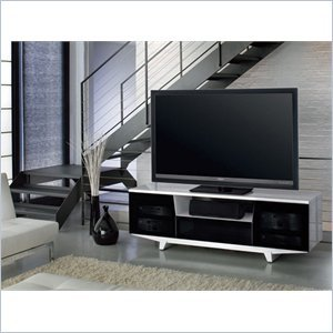 Cheap on BDI Marina 8729-2 GWH Wide Flat Panel TV Stand for 50-82 inch Screens Gloss White (8729-2GW)