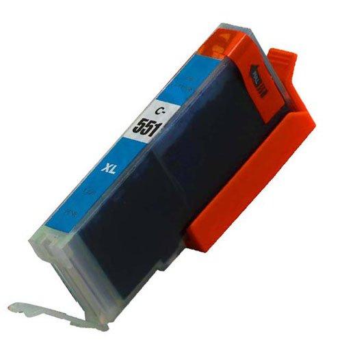 Cyan, 1 X CLI 551 High Capacity Kompatible Tintenpatronen für Canon Pixma iP7250 iP8750 iX6850,,, MG5650, MG5450, MG5550, MG6350, MG6450, MG7150, MG6650, MG7550, MX725, MX925