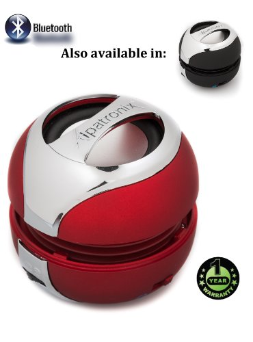 Alpatronix AX300 X-tra Defensive Bluetooth Portable Mini Capsule Speaker/handsfree for iPhone/iPod/iPad/smartphone Red
