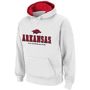 NCAA Arkansas Razorbacks White Sentinel Pullover Hoodie Sweatshirt (Large)