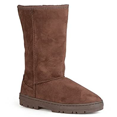 Journee Collection Boots Faux Suede Lug Sole Boot Brown 6