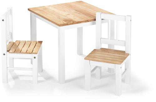 reer kt2 kindersitzgruppe nils tisch inkl 2 st hle aus massivholz gefertigt delpi made. Black Bedroom Furniture Sets. Home Design Ideas