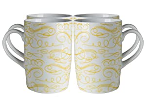 Danica Studio Mugs, Flourish, Set of 4