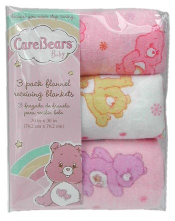 Care Bears 3 pack Baby Receiving Nursery Blankets - 1