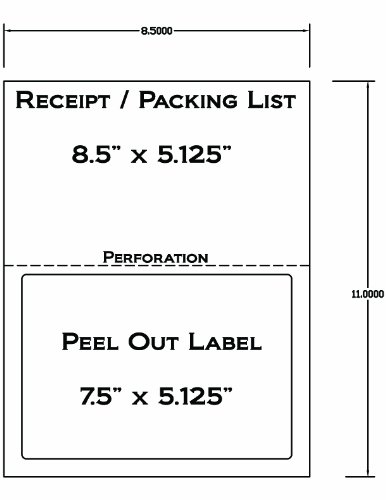 250 half sheet laser ink jet shipping labels for fedex for Half sheet shipping label template