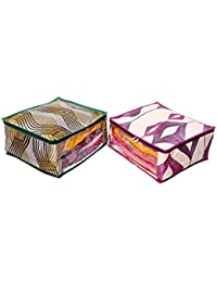 Kuber Industries Heavy Quilted Large Saree Cover Set Of 2 Pcs