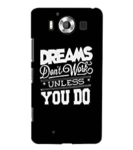 A CONFIDENTIAL QUOTE WITH A BLACK BACKGROUND 3D Hard Polycarbonate Designer Back Case Cover for Nokia Lumia 950 :: Microsoft Lumia 950
