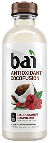 Bai Cocofusions Maui Coconut Raspberry, Antioxidant Infused Beverage, 18 Ounce (Pack of 12) (Aloe Vera Juice Coconut compare prices)