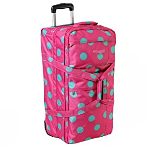 Sirocco Large 27 Inch Split Level Wheeled Holdall Pinkteal from Karabar
