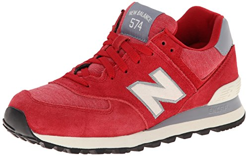 New Balance Women'S Wl574 Pennant Pack Running Shoe,Dark Red/White,9 B Us