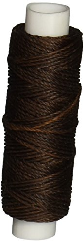 Tandy Leather Factory Waxed Nylon Thread, 25-Yard Spool, Brown - 1