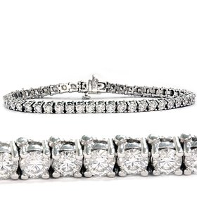2.00CT Diamond Tennis Bracelet 14K White Gold