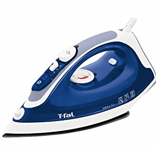 T-fal Prima FV3756 Nonstick PTFE soleplate with Anti-Drip and Auto-off, 1400-Watt, Blue