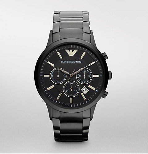 Armani Classic Chronograph Stainless Steel - Black Men's watch #AR2453
