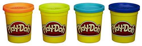 Play-Doh 4-Pack of Colors 20oz - Blue, Orange, Teal & Neon Yellow - 1