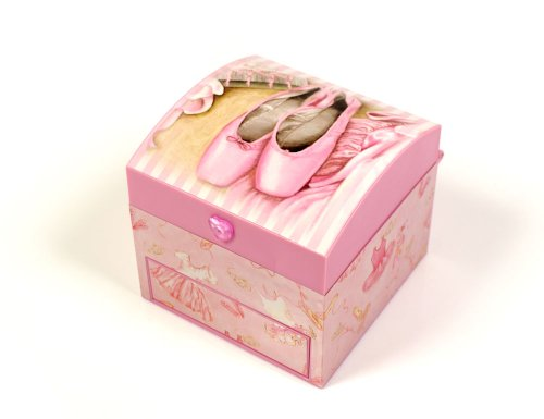 Musical Ballerina Jewellery Box Square Shaped with Drawer