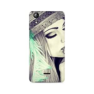 Mobicture Girl Abstract Premium Designer Mobile Back Case Cover For Micromax Canvas Selfie 2 Q340