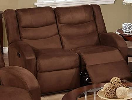Bobkona Collection Loveseat in Chocolate Microfiber by Poundex