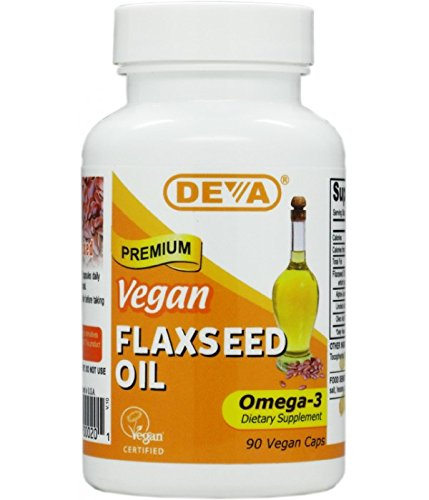 Deva Organic Vegan Vitamins Flax Seed Oil, Omega-3, 90 Vcaps (Pack of 2) (Flax Omega 3 Supplements compare prices)