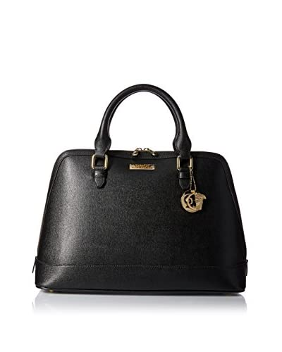 Versace Collection Women's Bowler Bag, Black/Light Gold