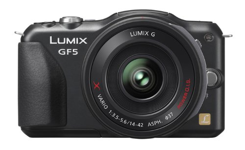 Panasonic ルミックス デジタル一眼カメラ/レンズキット(14-42mm/F3.5-5.6電動ズームレンズ付属) フルハイビジョンムービー一眼 エスプリブラック DMC-GF5X-K
