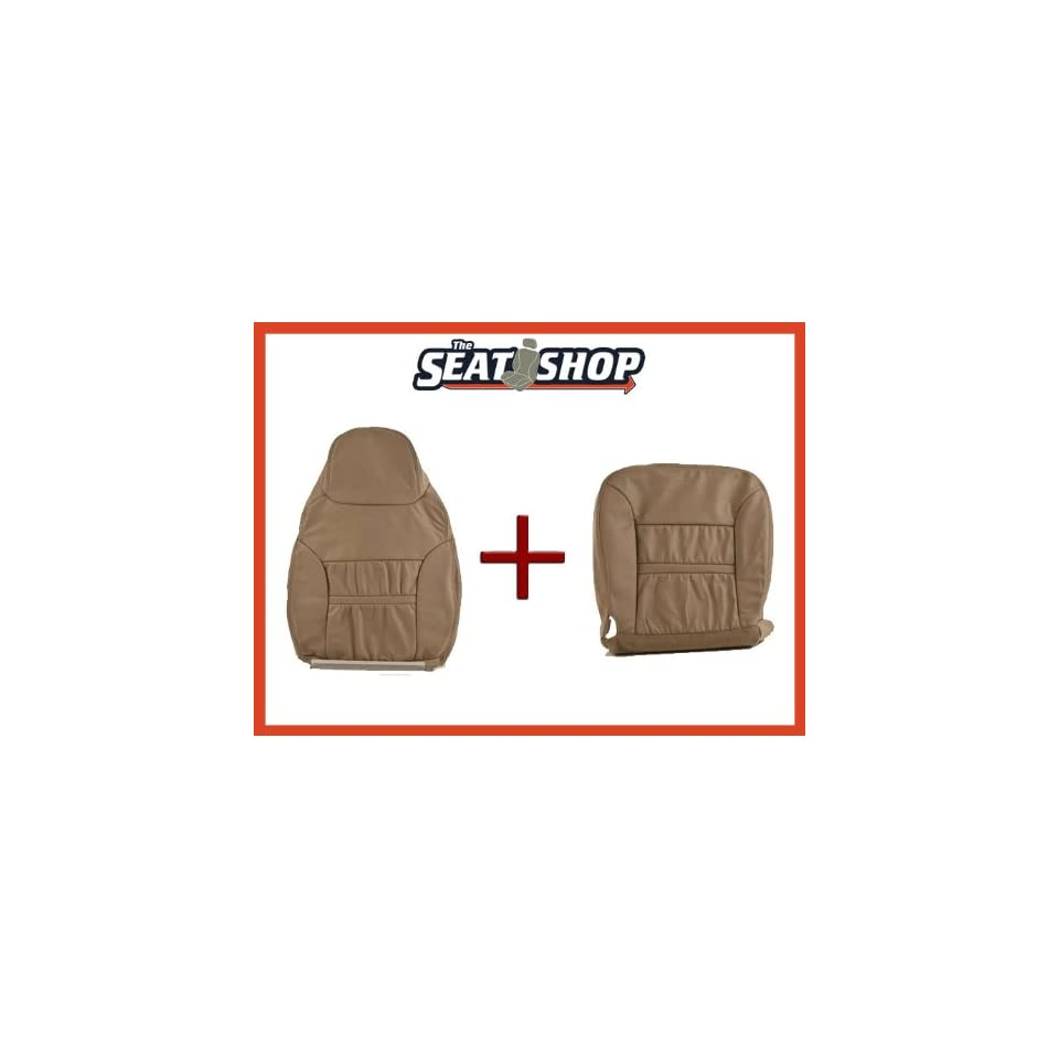 00 01 Ford Excursion Med Parchment Leather Seat Cover bottom & top RH
