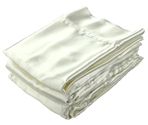 Empress Silk Satin Sheet Set - King Set - Ivory
