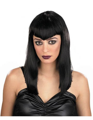 Wig Gothic Vamp Costume Accessory