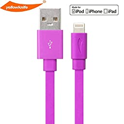 yellowknife [Apple MFI Certified] Lightning to USB Cable Sync Charger Data Cable Cord Data 3.3ft / 1m Lightning to USB Sync Charger Data Cable Cord Data for iPhone 5 5S 5C,iPad (Air/4th generation),iPad mini,iPod (7th generation),iPod touch (5th generatio