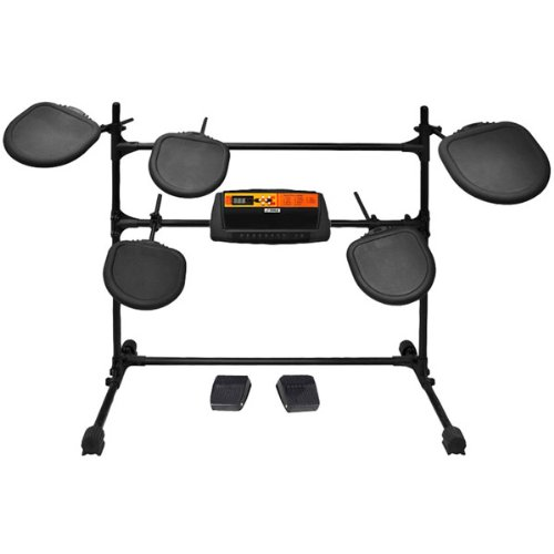 Electronic Drum Set With 5 Pads, 2 Pedals, Natural Response Cymbals And Drums