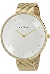Skagen Women's SKW2141 Gitte Gold-Tone Stainless Steel Watch with Mesh Bracelet