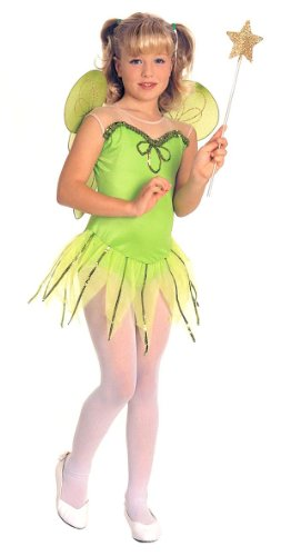 Girls Tinker Bell Fairy Princess Costume